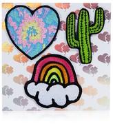 Stoney Clover Lane Heart, Cactus, Rainbow Stick-On Patches