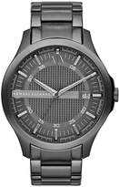 Armani Exchange A X Men's Gunmetal Ion-Plated Stainless Steel Bracelet Watch 46mm AX2135