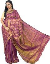 Alankrita Kanchipuram Art Silk Mango Meena Brocket Rich Pallu Saree With Stones