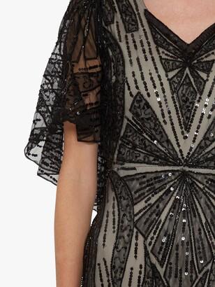 Gina Bacconi Adania Sequin Embellished Maxi Dress