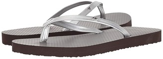 Tory Burch Metallic Leather Flip-Flop (Rose Gold/Rose) Women's Sandals
