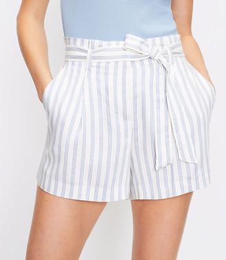 LOFT The Paperbag Pull On Short in Stripe