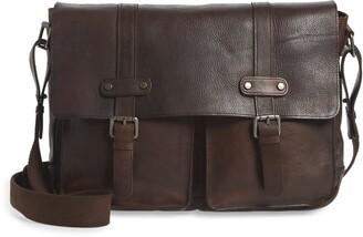 Bosca Vintage Flap Messenger Bag
