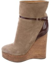 Chloé Platform Wedge Ankle Boots
