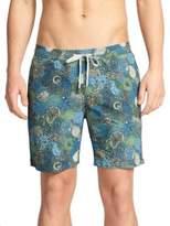 "Onia Charles 7"" Paisley Print Swim Trunks"