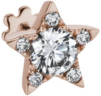Maria Tash Diamond Star Threaded Stud Earring (7mm)