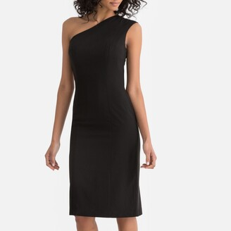 La Redoute Collections Asymmetric One Shoulder Bodycon Dress