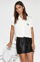 KENDALL + KYLIE Kendall & Kylie Embroidered Pocket Short Sleeve Top