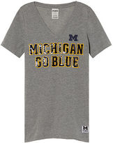 Victoria's Secret Victorias Secret University Of Michigan Perfect V-Neck Tee