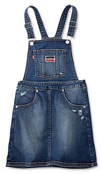 Levi's Girls' A-Line Denim Jumper Dress - Big Kid