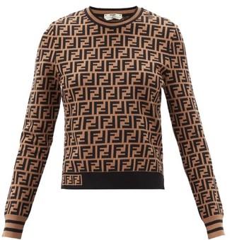 Fendi Ff-jacquard Sweater - Brown