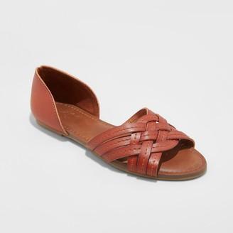 Universal Thread Women's Vail Faux Leather Woven Slide Sandals - Universal ThreadTM