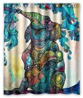 LOVELIFE African Elephant 60(w)x72(h)Inch Bathroom Waterproof Shower Curtain Bath Curtains