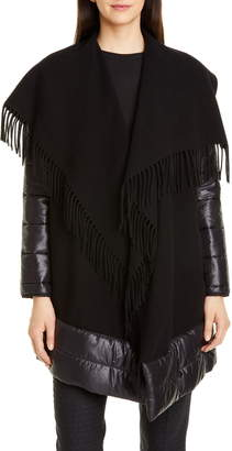 Seventy Mixed Media Wool Blend Poncho Jacket