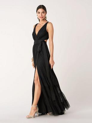 Diane von Furstenberg Rumi Petal Lace Wrap Gown