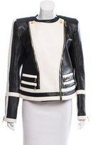 Balmain Structured Leather Jacket