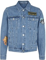 Kenzo Blue Appliquéd Denim Jacket