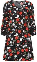 Dorothy Perkins Red and Black Tiered Sleeve Fit and Flare Dress