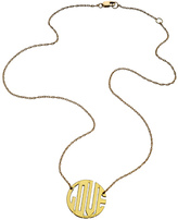 Jennifer Zeuner Jewelry Mini Art Deco Love Necklace