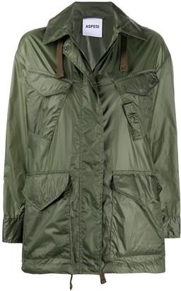 Aspesi Drawstring Hem Raincoat