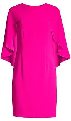 Trina Turk Wilderness Cape-Sleeve Dress
