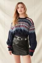 Urban Renewal Vintage Recycled Cropped Fair Isle Sweater