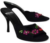 Moschino Cheap & Chic Black Rhinestone Slip On Heels