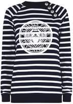 Balmain Striped Coin Logo Sweatshirt