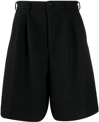 Comme des Garcons Pleated Wool Wide-Leg Shorts