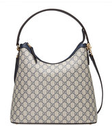 Gucci GG Supreme Medium Hobo Bag, Blue