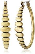 Lucky Brand Gold Oblong Hoop Earrings