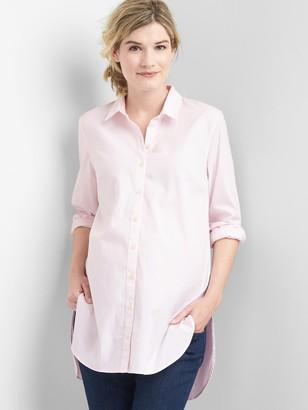 Gap Maternity Tailored Oxford Tunic Shirt