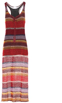 Anna Kosturova Marsala crochet maxi dress