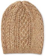 Ralph Lauren Cable-Knit Metallic Hat