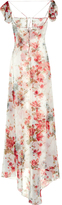 Saint Laurent Rose-print georgette gown