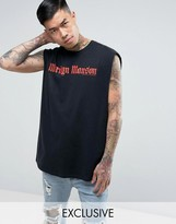 Reclaimed Vintage Inspired Marylin Manson Oversized Band Sleeveless T-Shirt In Black