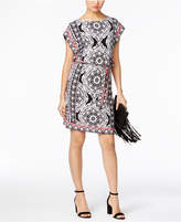 INC International Concepts Printed Dolman-Sleeve Sheath Dress, Only at Macy's