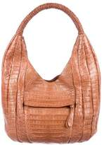 Nancy Gonzalez Crocodile Braided Hobo