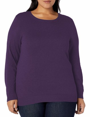 Amazon Essentials Women's Plus Size Lightweight Crewneck Cardigan Sweater