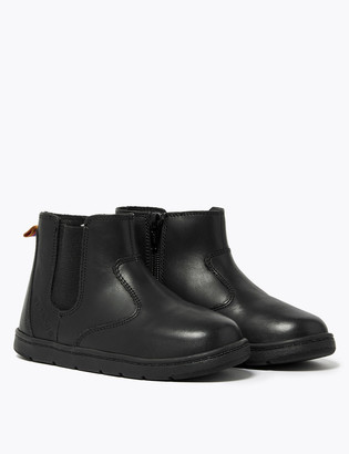 Marks and Spencer Kids' Leather Freshfeet Chelsea Boots (4 Small - 12 Small)