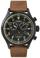 Timex + Todd Snyder Exclusive Timex + Red Wing Shoe Leather Chronograph in Black and Tan