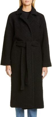 Ganni Boucle Wrap Coat