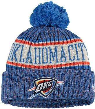 New Era Youth Blue Oklahoma City Thunder Sport Pom Cuffed Knit Hat