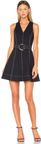 Diane von Furstenberg Ring Mini Dress in Navy