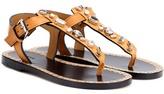 Isabel Marant Jinkel Embellished Leather Sandals