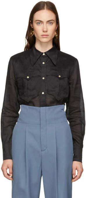 Isabel Marant Black Naria Shirt