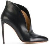 Francesco Russo asymmetric upper stiletto pumps