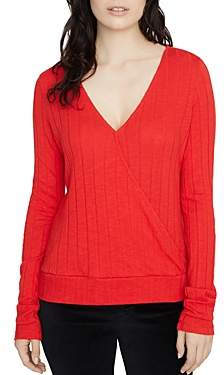 Sanctuary Polina Ribbed Wrap-Front Top