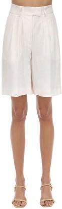 Remain Kit Linen Wide Bermuda Shorts