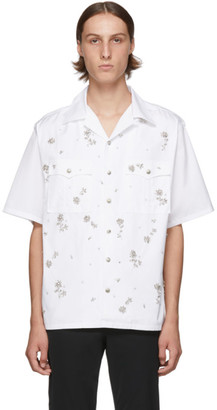 Prada White Crystal Bowling Shirt
